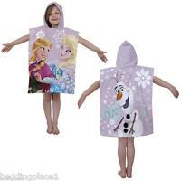NEW Disney Frozen Anna Elsa Olaf Poncho Beach Cotton Bath Towel Gift for Girls