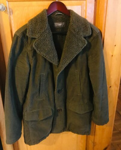 Vince Cordoroy Jacket Men Sz Med Dark Green From N