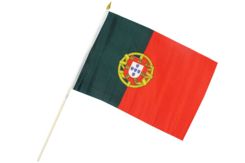 2er Set 0520310 Fahne Flagge Portugal  30 x 45 cm mit Holzstab Höhe 61cm