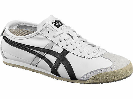 new styles 3695c b8518 ONITSUKA TIGER DL408.0190 MEXICO 66 Mn's (M) White/Black Leather Lifestyle  Shoes