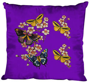 06991-1-Purpura-cojines-decorativos-40-x-40cm-Almohadas-Decorativas-mariposas