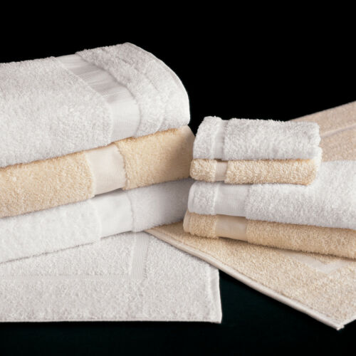 Martex Plain Border Bath Mat  Color White Pkg of One  Dozen