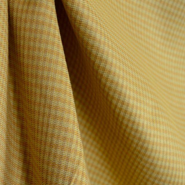 Gold yellow check fabric Maddie Bella Sunshine