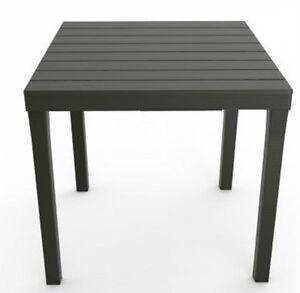 Gartentisch Bali Grau Wetterfest Tisch 80 X 80 Cm Balkontisch Holz