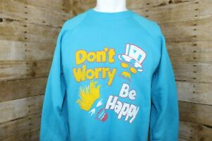 Vintage-Pre-owned-Don-039-t-Worry-Be-Happy-Sweatshirt-Crewneck