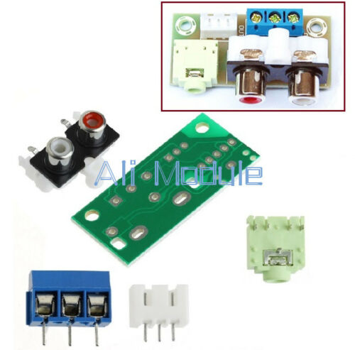 Audio Switch Board RCA 3.5mm Socket Input Block Stable 5V for Amplifier DIY Kit