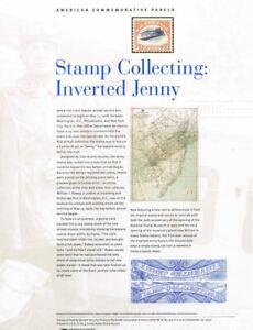 925-2-00-Inverted-Jenny-4806-6-Stamps-USPS-Commemorative-Stamp-Panel-Unopened