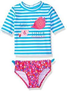 Swimwear Girls' Clothing (newborn-5t) Kiko & Max Toddler Girls Turquoise Rashguard Swim Set Size 2t 3t 4t Beneficial To Essential Medulla