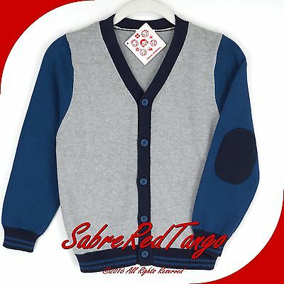 NWT HANNA ANDERSSON BUTTONFRONT SWEATER CARDIGAN HEATHER GREY STORM CLOUD 130 8