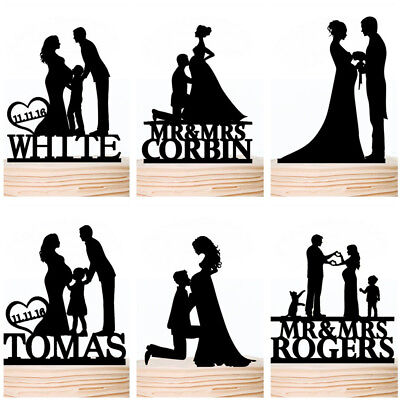 Pregnant Family Wedding Cake Topper Bride And Groom With Kids Toppers Custom Ebay