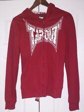 Vintage rare TAPOUT Hoodie Sweatshirt Full zip sweatpant suit Size L red womans