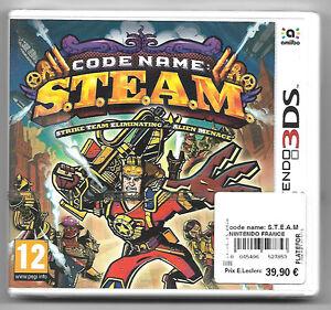 CODE-NAME-S-T-E-A-M-Neuf-sous-blister-Jeu-Nintendo-3DS