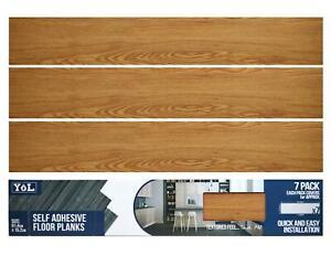 Floor Planks Tiles Self Adhesive Vinyl Brown Wood Flooring Kitchen Bathroom
