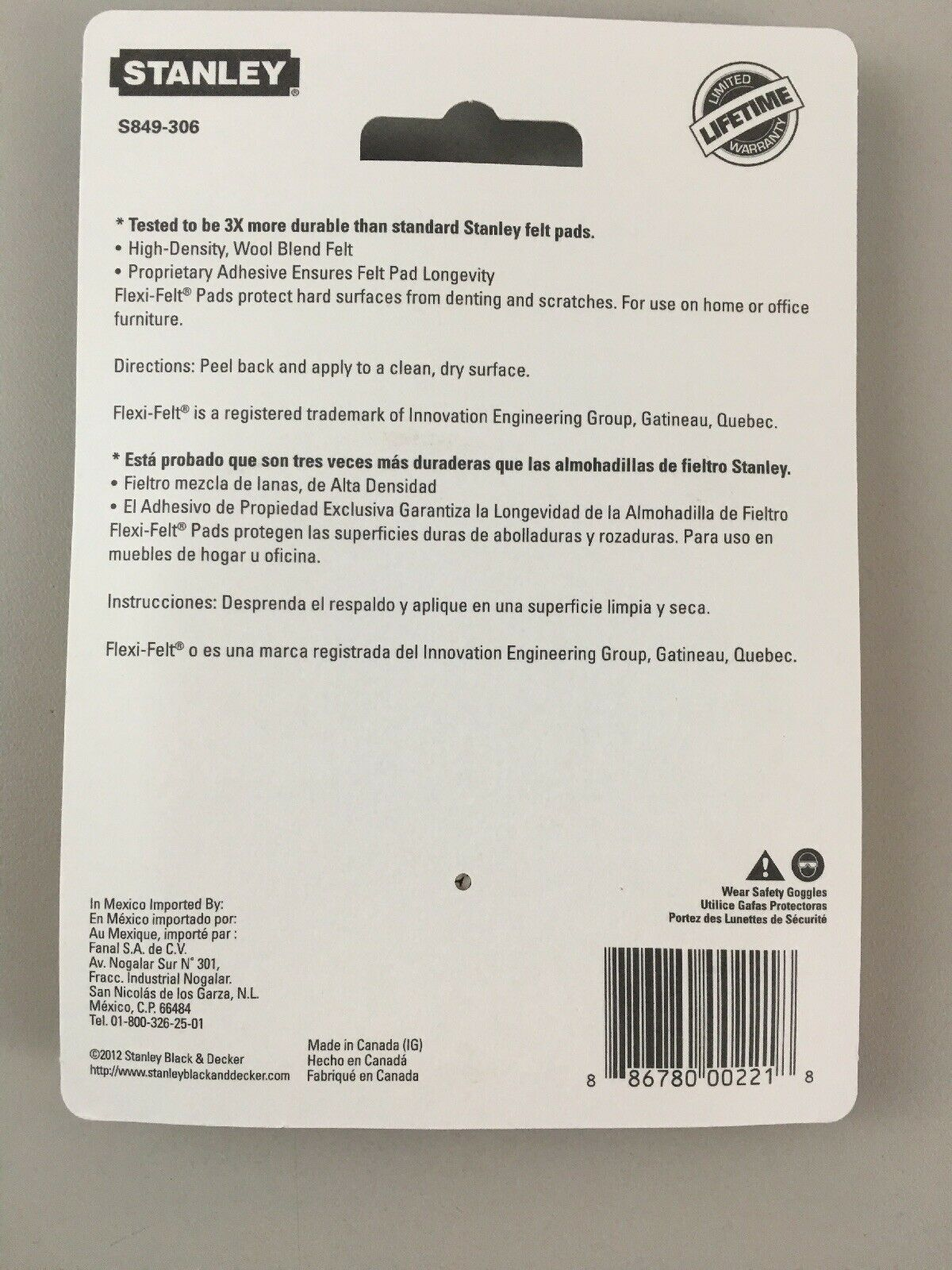 Stanley Hardware S849-306 V1732 Flexi-Felt Self-Adhesive Pads 3 2 piece