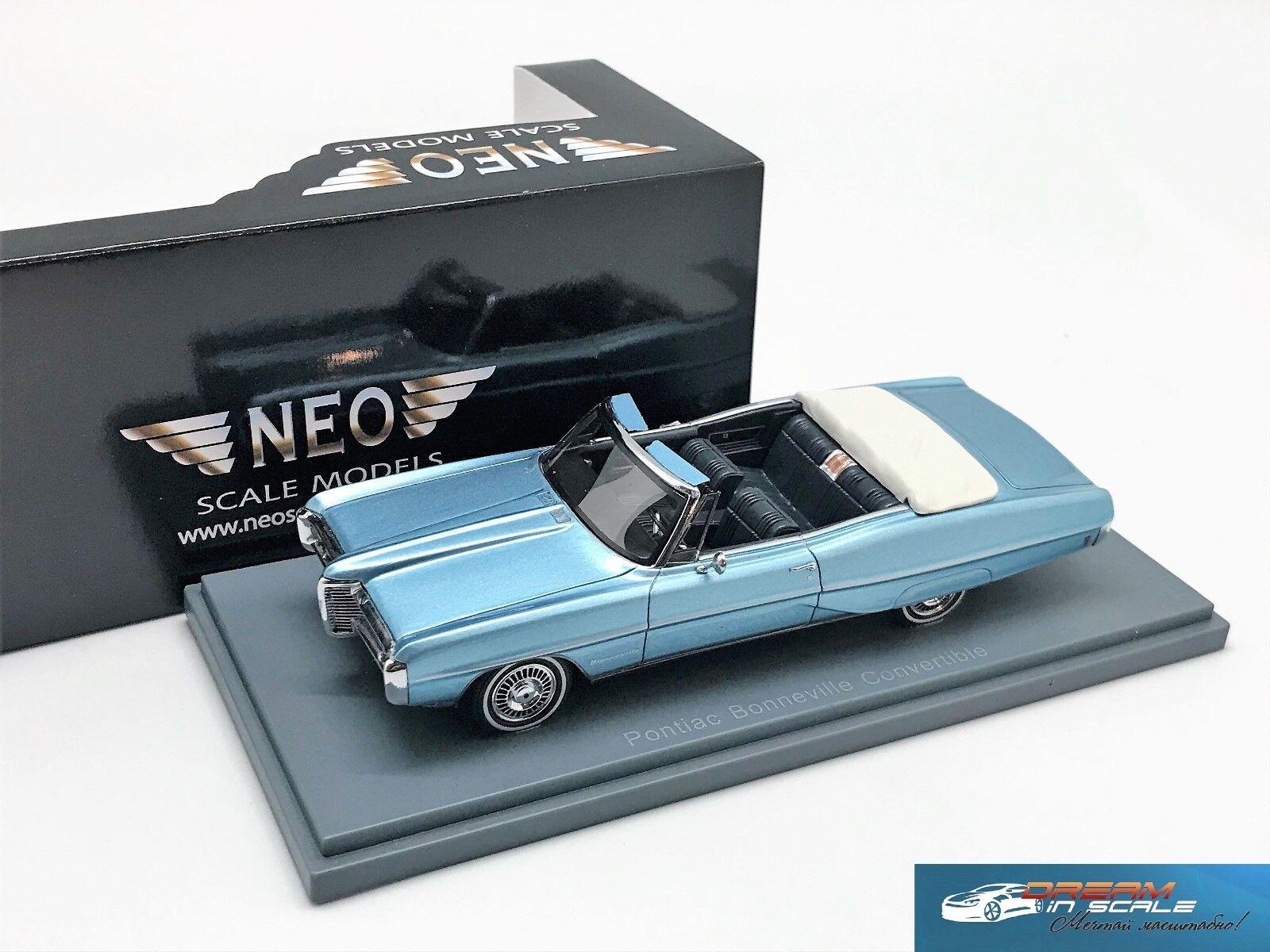 Pontiac Bonneville Convertible 1968 met bleu Neo 44111 1 43