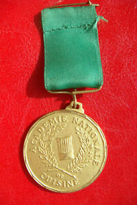 FRANCE-ACADEMIE-NATIONALE-DE-CUISINE-MEDAILLE-NATIONAL-ACADEMY-OF-COOKING-MEDAL