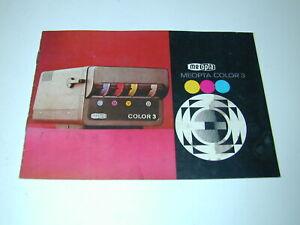 MEOPTA COLOR 3 notice pour agrandisseur photo photographie