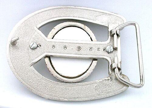 40x30 40mm x 30mm Cab Horseshoe 10x8 Cabochon Silverplate Belt Buckle Mounting