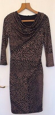Womens Austin Reed Tiger Print Dress Size 6 Formal Work Elegant Rrp 119 Ebay
