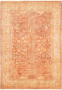 Hand-knotted-Carpet-6-039-0-034-x-8-039-8-034-Peshawar-Oushak-Traditional-Wool-Rug