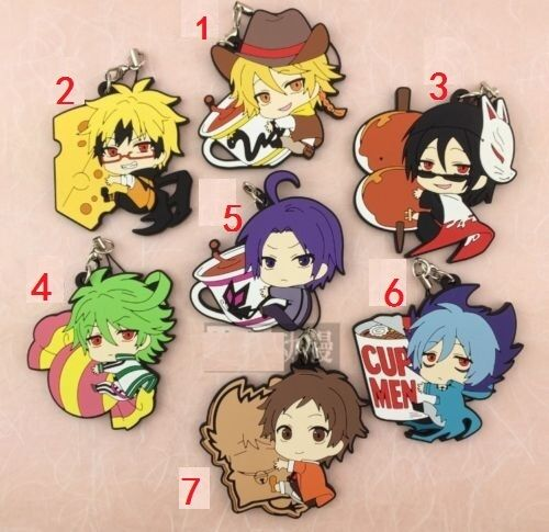 SERVAMP Anime Figure Rubber Strap Charm Keychain Key Ring Collection Kuro Hyde