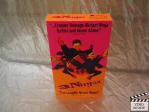 3 Ninjas VHS, 1993 Chad Power Victor Wong Michael Treanor ...