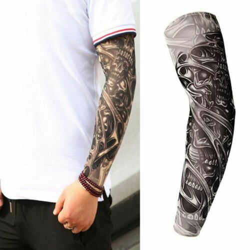 3D Tattoo Arm Sleeve Breathable UV Protection Warmers Covers Cooling Quick Dry