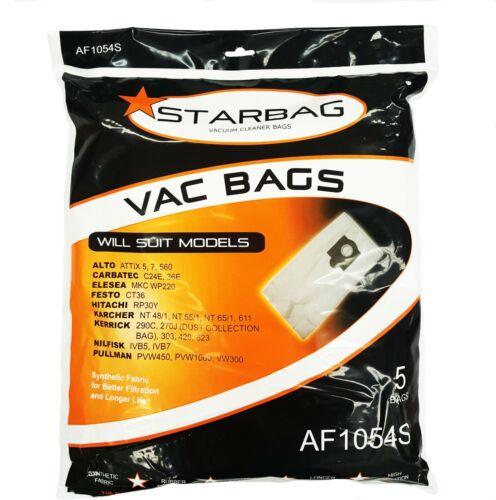 Festo CT36 KERRICK NILFISK AF1054S 5xSynthetic Vacuum Cleaner Bags Alto ATTIX