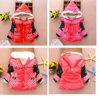 Kids Girls Baby Kids Girls Fleeced  Warm Winter Jacket Coat Snowsuit  age1-3 Y