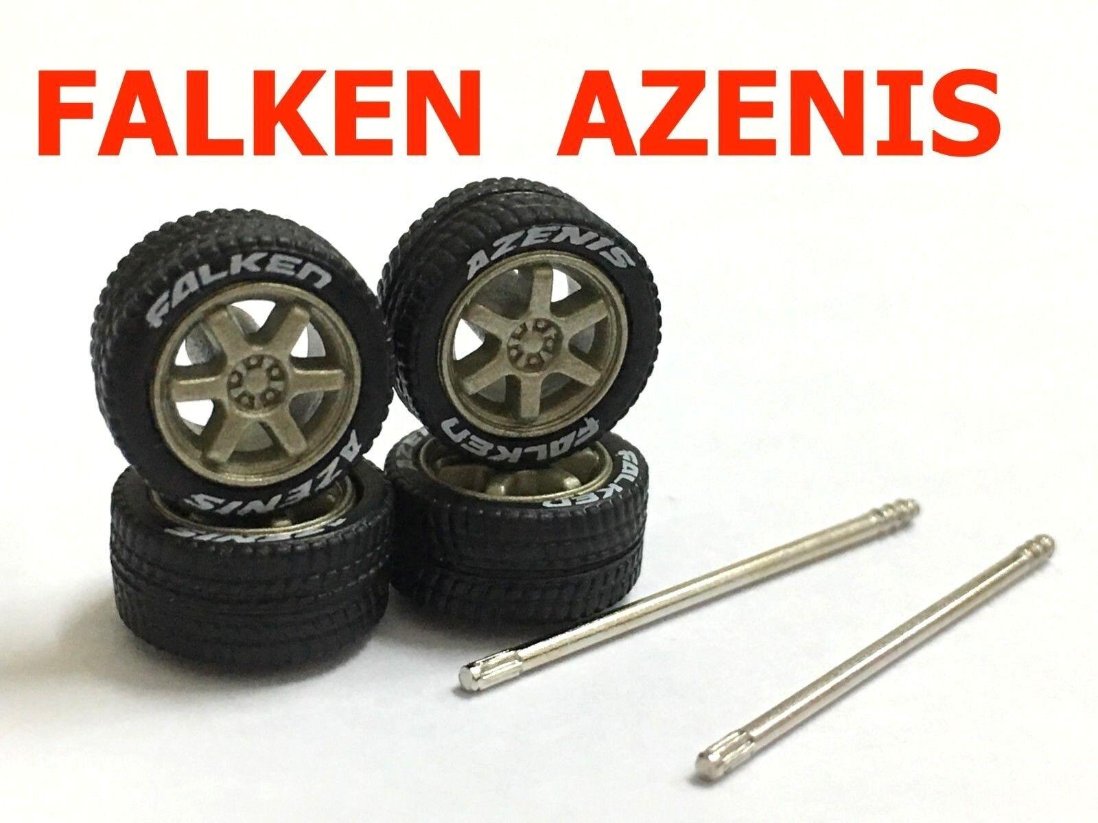 1 64 rubber rubber rubber tires TE37 Bronze rim fit Hot Wheels MBX diecast - 10 set - R009-10 687cd2