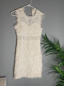 Sans-Souci-Dress-Womens-Small-S-White-Spring-Summer-Bridal-Wedding