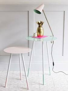 Image Is Loading Bombay Duck Pale Pink Round Side Table Light