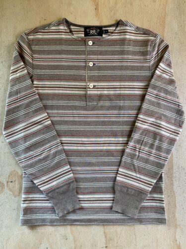RRL Ralph Lauren Serape Stripe Long Sleeve Henley