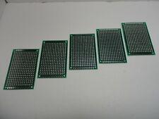 5x Pack Lot Blank Soldering Circuit Board Universal Breadboard Prototype 4x6cm