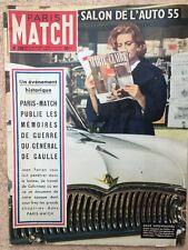 Paris Match du 2 Oct 1954 - Salon Auto 55 Memoires de guerre du Gal De Gaulle