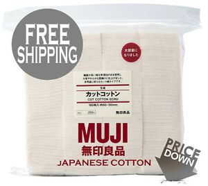 Genuine-MUJI-Unbleached-Japanese-Cotton-10-20-30-40-50-Pads-Vape-Wicks-Japan