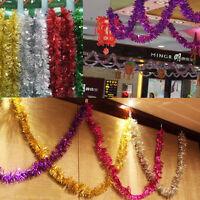 Christmas Tinsel Garland Xmas Tree Decoration Celebration Home DIY Ornament