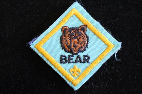 "MERIT ADVANCEMENT CUB SCOUT /""BEAR/"" RANK PATCH OFFICIAL BSA"