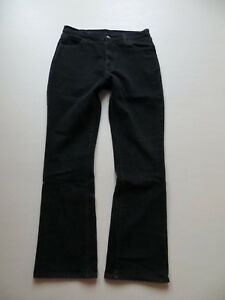 Levi-039-s-525-Bootcut-Jeans-Hose-W-33-L-32-Schwarz-Black-Stretch-Denim-bequem