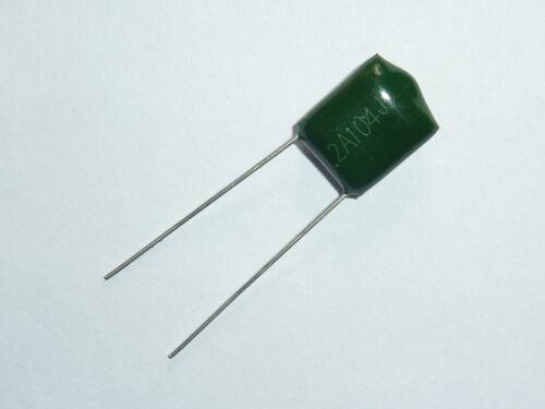 100PCS 100 V 0.1uF 100nF 100000pF 2A104J ± 5/% Mylar Film Condensateurs Radial
