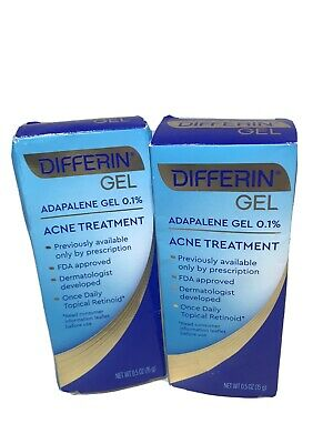 2x Differin Adapalene Gel 0 1 Retinoid Acne Treatment 15 G New S030 Ebay