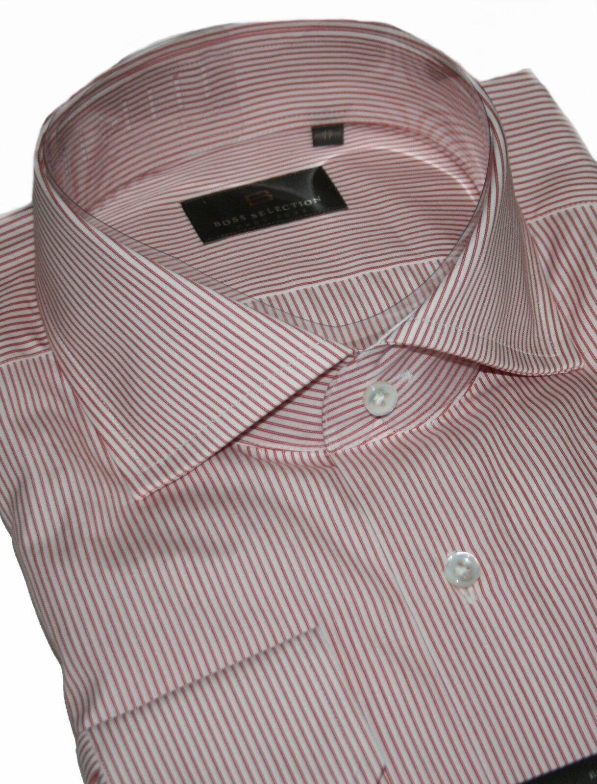 Hugo Boss Selection 50239263 Dark ROT Stripe Walton Hemd KW.39, 42, 43 & 45