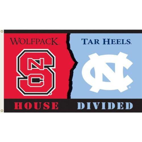 NORTH CAROLINA//NC STATE HOUSE DIVIDED FLAG--3/' X 5/'