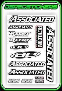 TEAM-ASSOCIATED-AE-REEDY-RC10-STICKER-SHEET-A5-BNIP-VINTAGE-RC8-B6-TC7-RC-CAR-XP