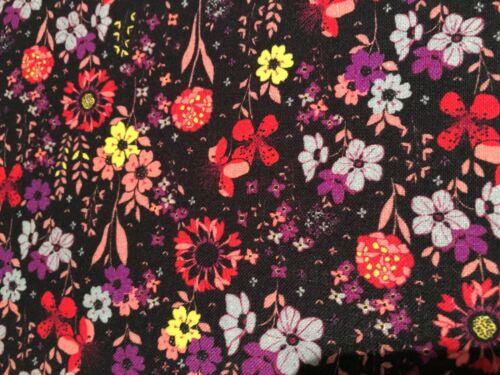 coupon de tissu  PUR coton imprimé moderne  fleuri 3.00 m ; Ref  MO