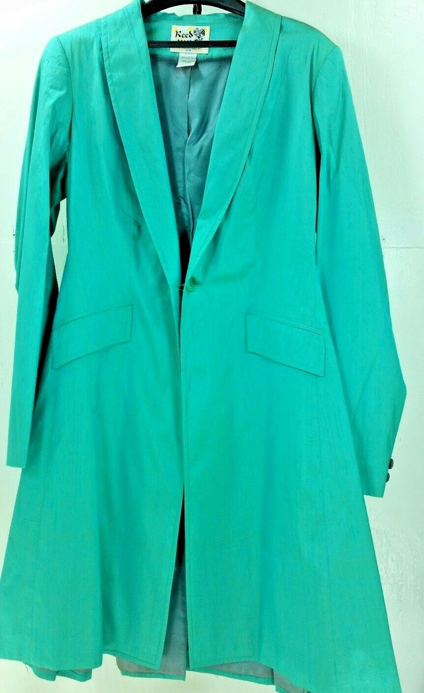 Reed Hill Saddleseat Day Coat Light Aqua ( bluee   Green )  Dupioni Silk 18