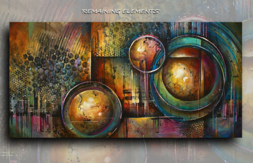 Mix Lang Steam Punk ART Abstract Giclee canvas print PAINTING Contemporary DECO