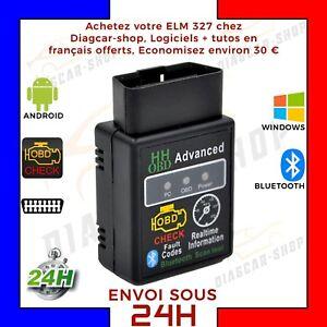 HH OBD BLUETOOTH ELM327 Interface diagnostic multimarque PC Android OBD Vgate