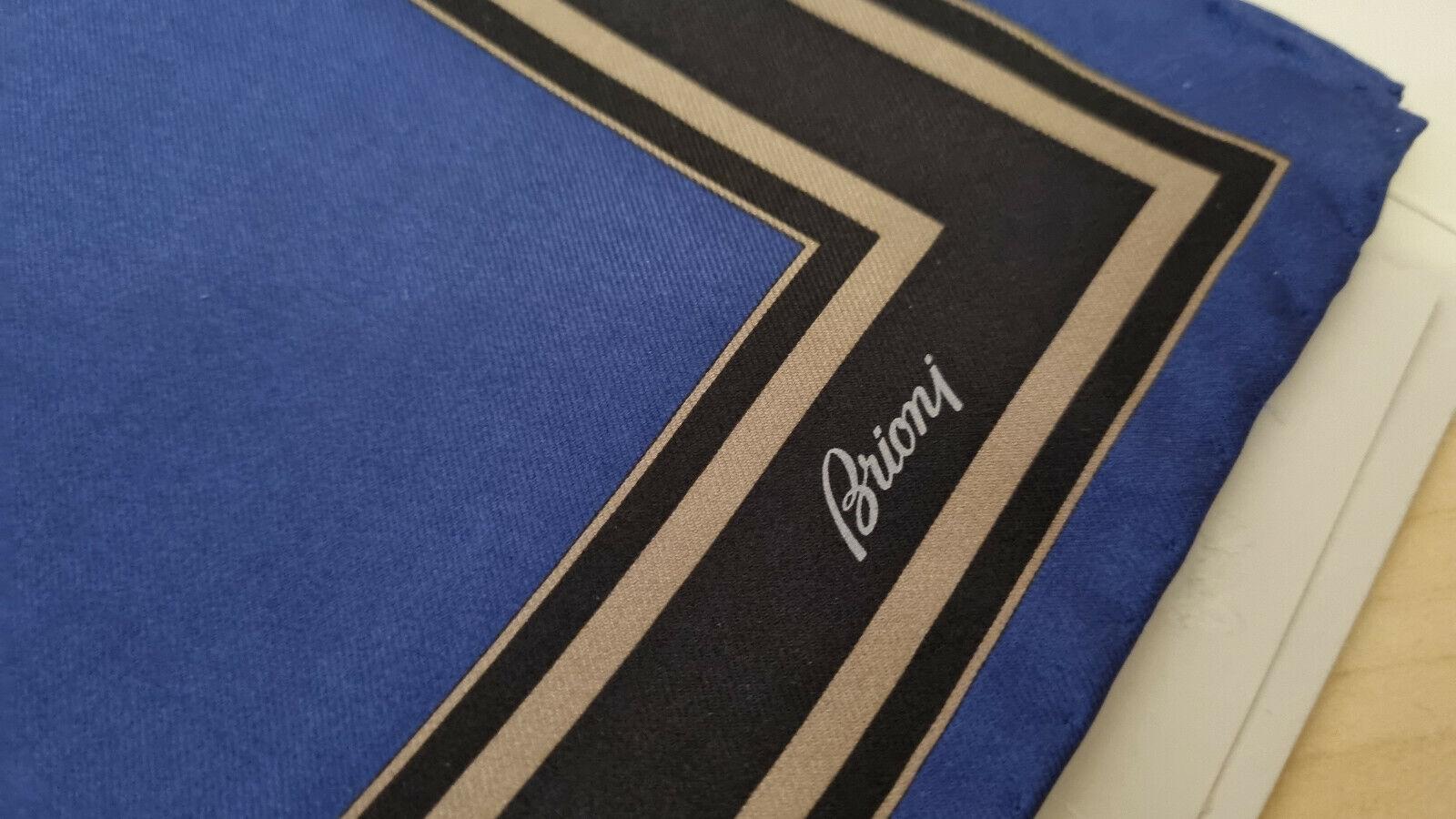 Brioni Silk Pocket Square new