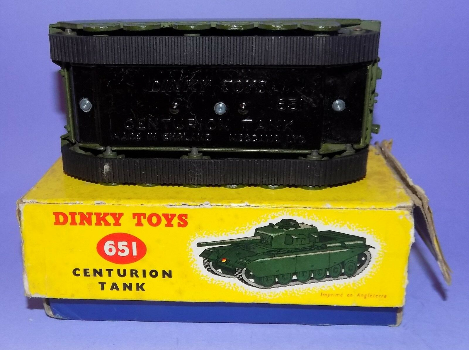1954 - 1970  DINKY TOYS    NO 651  CENTURION TANK  IN ORIGINAL BOX   4b7c54